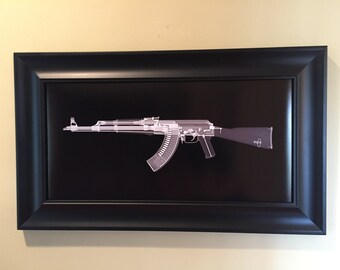 AK-47 CAT scan gun print - ready to frame