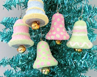 Hand Painted Spun Cotton Bell Ornament