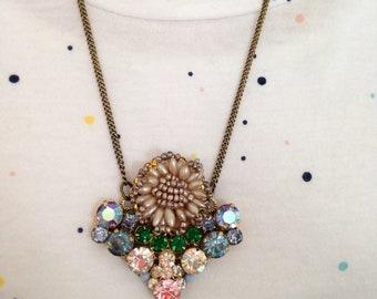 Petunia heirloom pendant necklace