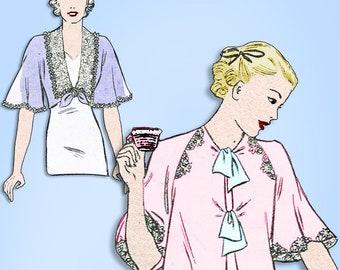 1930s Original Vintage Butterick Pattern 7149 Uncut Misses Bedjacket Set Sz 32 B