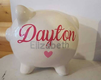 Personalized baby Piggy Bank