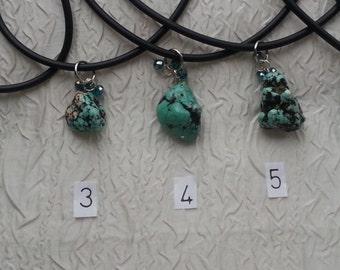 Medium Turquoise stone necklace