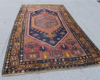turkish rug, vintage, rug, kilim rug, kilim turkish vintage rug oushak vintage rug  Turkish vintage home rug 515