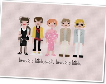 Pretty In Pink - The *Original* Pixel People - PDF Cross Stitch Pattern - INSTANT DOWNLOAD
