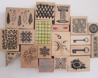 rubber stamp - YOUR CHOICE - collage stamps - used rubber stamps