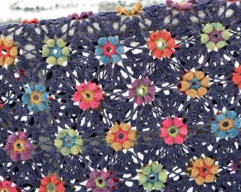 Ermintrude Crochet Blanket - PDF CROCHET PATTERN