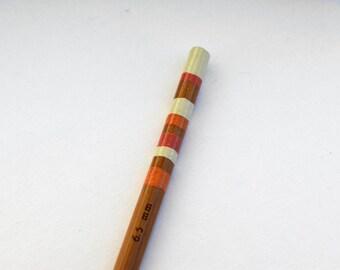 Size K Crochet Hook - Hand Painted Bamboo Crochet Hook - UK Size 3 (6.5mm)