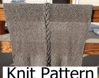 Cable knit blanket pattern, easy knit blanket pattern, easy knit afghan pattern, cable blanket pattern, knit crib blanket