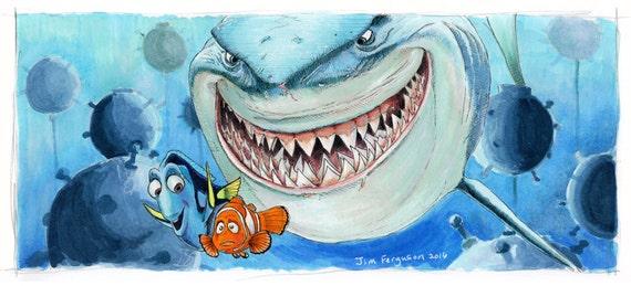 Finding Nemo - Hi I'm Bruce Poster Print
