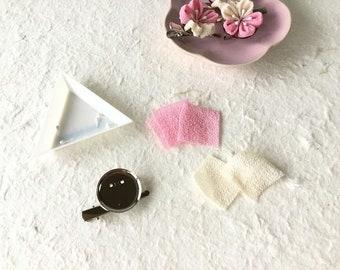 Kanzashi Tsumami DIY KIT for cherry blossom with 2 way clip
