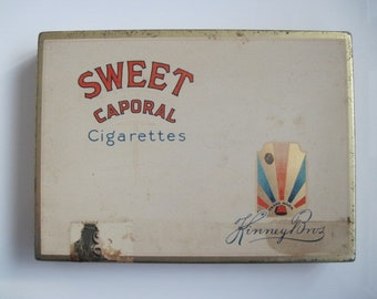 Sweet Caporal cigarette tin (50/empty) - By Kinney Bros