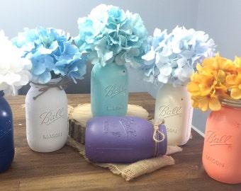 Set of 8 Quart Size Mason jars for Weddings