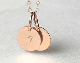 Rose Gold Filled Initial Necklace, Gold Letter Necklace Simple, Delicate Minimalist Gold Necklace, Personalized Bridesmaids Gift
