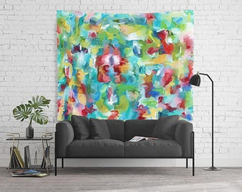 Wall Tapestry, Dorm Decor, Watercolor Wall Art, Abstract Tapestry, Modern Tapestry, Art Tapestry, Wall Hanging, Large Tapestry, Dorm Room