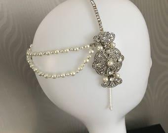 Great Gatsby headpiece - art deco headpiece - flapper dress - 1920s headpiece - Flapper Headpiece - Gatsby head piece -1920s Art deco style