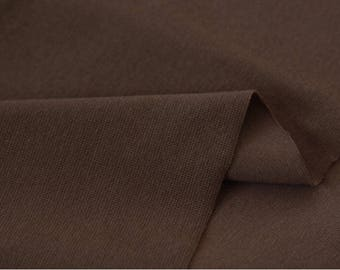 Dark Brown 1x1 Ribbing and Binding Knit Fabric, by Half Yard 77053