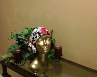 Red Flowered Head Wrap