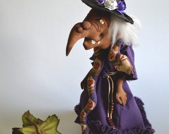 halloween decor witch with pumpkin, witch toy, interior decor, home decor, halloween, pumpkin, decor
