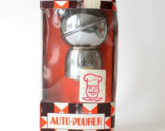 Automatic Drink Pourer Brass Chrome Plated Still in Box Perfect gift for a guy who likes to bartend!