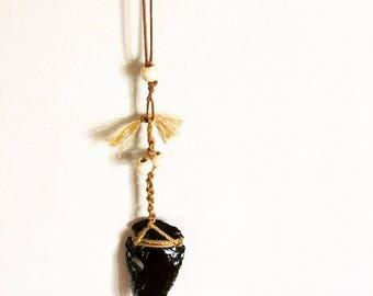 Volcanic Black Obsidian Necklace