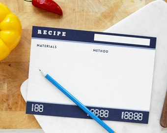 SCIENCE RECIPE INDEX Cards Folder Set Blue White Chemistry Chef Cook Kitchen Records Gift For Him Geek Nerd Father's Day Dad Stationery Love