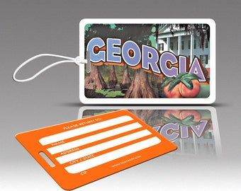 2 GEORGIA  Luggage Tags, Travel Luggage Tags, Suitcase Tags, Novelty Bag Tags, Plastic Luggage Tags, Cute Luggage Tags, Travel Accessories