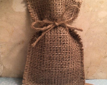 Hessian Favour Bags, Favor Bags; Wedding Favour Bags - Rustic Wedding, Country, Shabby Chic Weddings