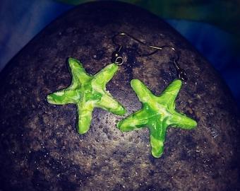 Handmade starfish dangles