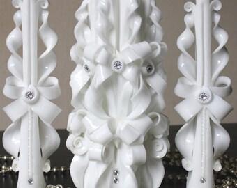 Unity candle set -  Wedding candles - White candle - Wedding - Wedding ideas - Unity candles - White candles