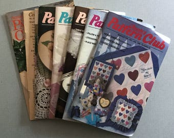 Lot of 8 Vintage Annie's Pattern Club Magazines 1988-1993