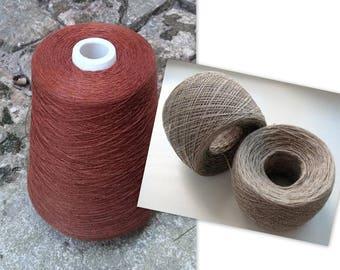Linen Yarn 3.53 oz (100 g) 1 ply in balls Brown