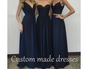 Custom made Bridesmaid dresses party prom evening wedding Gown special occasion