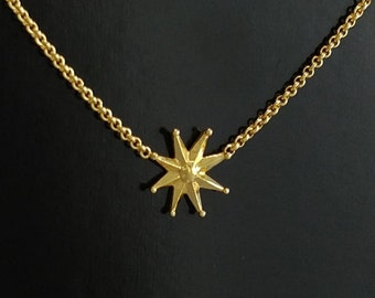 Gold Star Necklace, gold chain necklace, Celestial necklace, North Star Necklace, Star Charm Necklace, Tiny Star Necklace, Anniversary gift