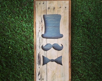 Mustache/Decor - Made out of Reclaimed Wood