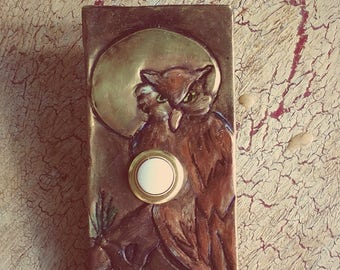Owl in Moonlight Doorbell