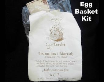 Egg Basket kit - Let's Make a Basket, Egg basket kit by J. Laughridge- # 77