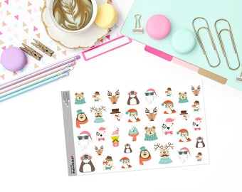 HIPSTER CHRISTMAS Paper Planner Stickers!