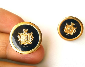 Gold Monarchy Studs. FAST Shipping w/Tracking for US Buyers. Gift Box and Ribbon Included. The Perfect Gift.