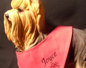 Pink bandana embroidered name of your dog XS-S-M