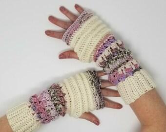 Fingerless gloves, texting gloves, urban chic gloves, half finger gloves, rainbow gloves, valentine's day gift