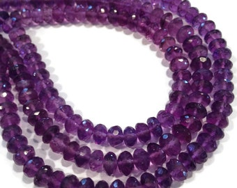 Amethyst micro-faceted rondelles.   Select a size: 6mm, 8.5-9mm.