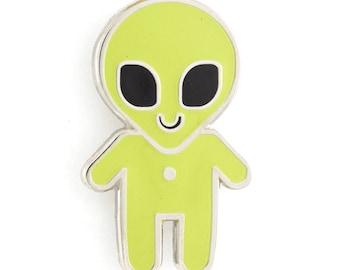 Alien Baby Glow-in-the-Dark Enamel Pin