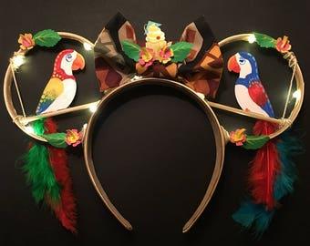 Light Up- Enchanted Tiki Room Ears