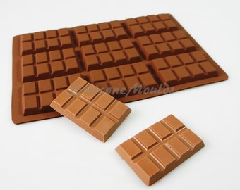 9 cell 8 Section Chocolate Bar 43g Candy Professional Chocolatiers Silicone Mould Mold N078