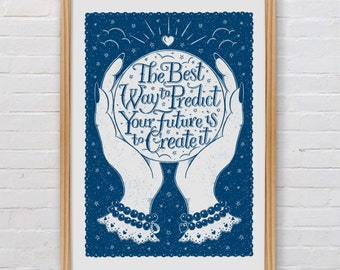 Future Goals Print | Inspirational Quote Print | Graduation Gift