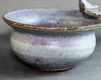 Blue and Purple  Bird Bowl or Trinket dish