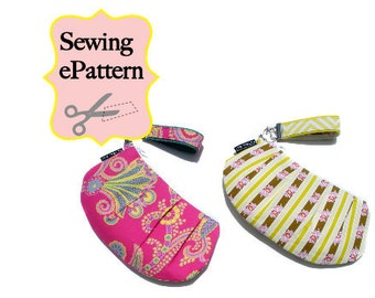 2- PDF Sewing Pattern, Sew Spoiled Wristlet and Leather Bracelet