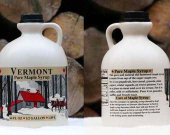 1 Gallon Organic Pure Vermont Maple Syrup,   Free Shipping - Jug