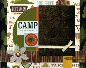 Camp Like You Mean It - 12x12 Premade Scrapbook Page