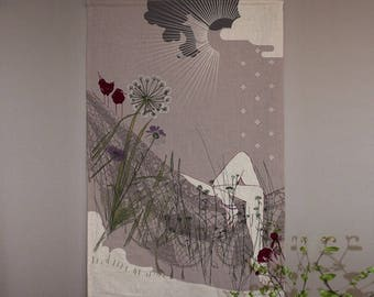 """Linen collection """"Ode to NAP"""" wall canvas size 75 x 120"""